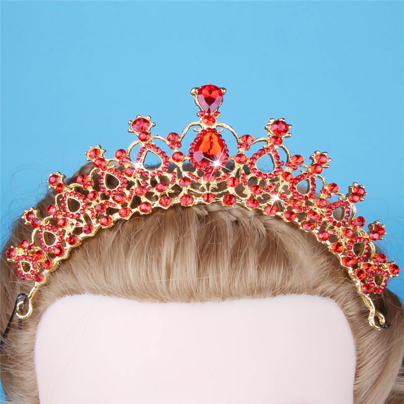 Sitaicery 2019 Western Wedding Crystal Crown Headdress For Bride Handmade Wedding Crown Floral Pearl Hair Accessories Ornament in Hair Jewelry from Jewelry Accessories