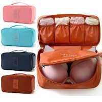 6Colors Women's Underwear Storage Box Bag Travel Necessity Socks Clothes Bra Waterproof Organizer Cosmetic Makeup Pouch Case Bag