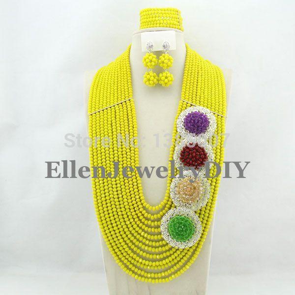 2019 African Beads Wedding Jewelry Set Nigerian Jewelry For Women Dubai Yellow Jewelry Set Crystal Beads Jewelry Sets Y77652019 African Beads Wedding Jewelry Set Nigerian Jewelry For Women Dubai Yellow Jewelry Set Crystal Beads Jewelry Sets Y7765