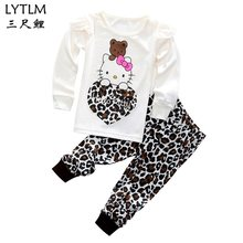 a46a41335 LYTLM Minnie Hello Kitty Girls Suits 2018 New Autumn Beautiful Long Sleeve Children  Clothing Sport Suit Baby Girl Clothes Set