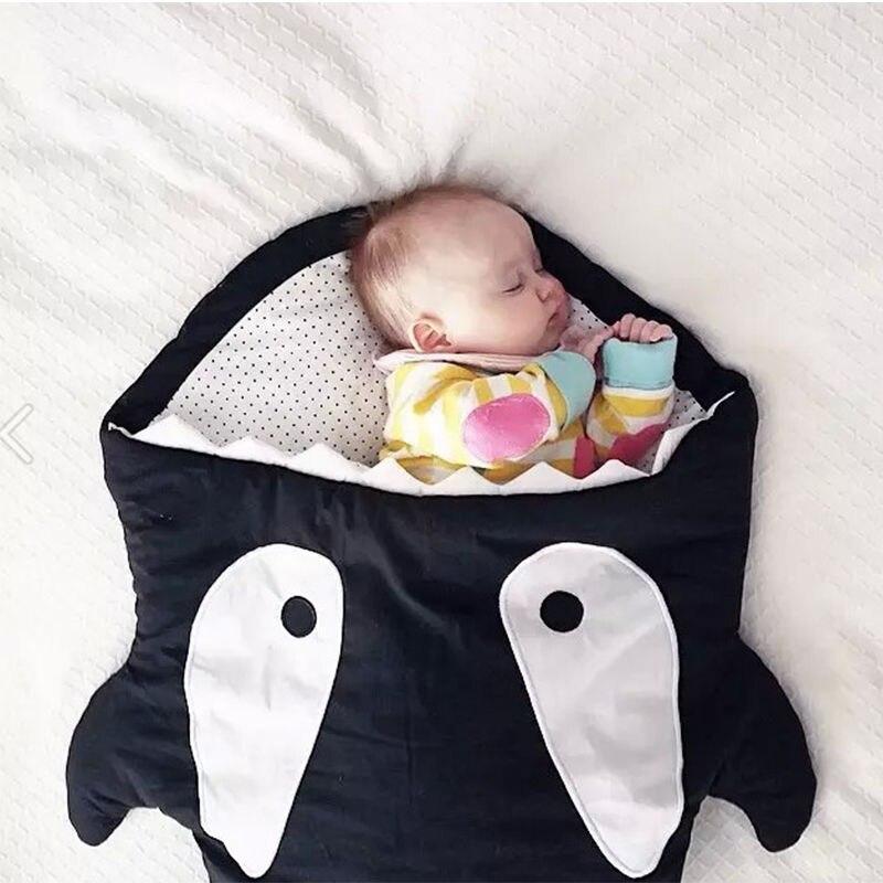 Shark Shape Newborn Sleeping Bag 100 Cotton Infant Blanket Swaddle Wrap For Baby Stroller Bed Winter Warm Bags In Sleepsacks From Mother