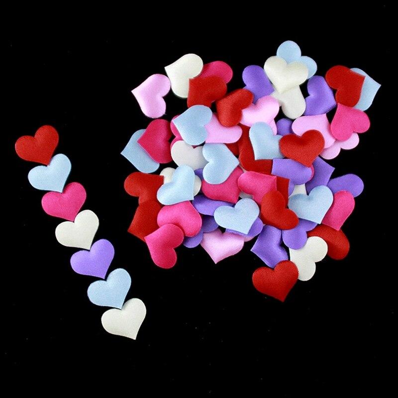 2/3/5 см сердце свадебные украшения из лепестков сатина в форме сердца тканевый искусственный цветок лепестки Свадебный декор товары для веч...