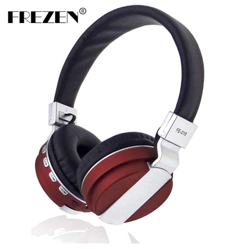 FREZEN Stereo Foldable Wireless Headphone Bluetooth Headset FM Radio Card With Microphone Noise Canceling For IPhone PC Pad LG niorfnio 5w 15w pll fm transmitter mini radio stereo station bluetooth wireless broadcast only host for radio y4351d