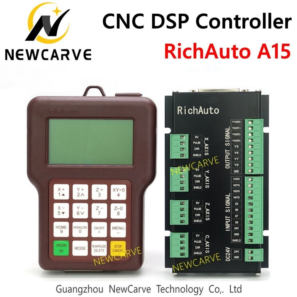 Richauto A15 Multi-spindle 3 Axis CNC DSP Controller A15s A15e Offline USB Motion Control System Manual For Cnc Router NEWCARVE