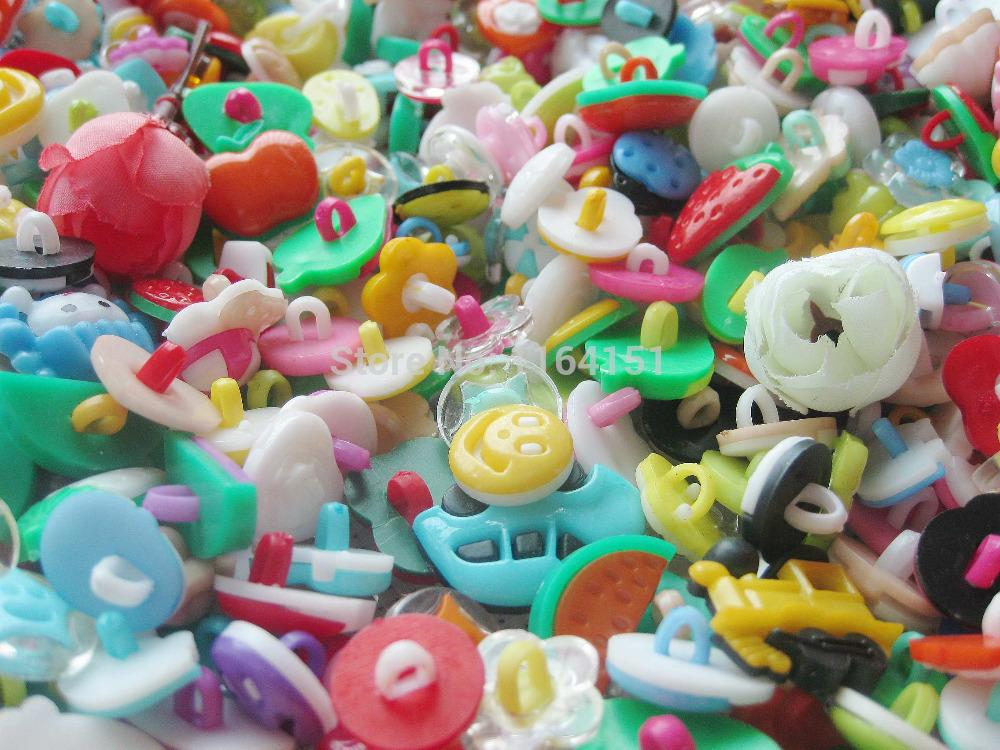 200pcs new mix Styles Assorted Button Sewing Children decoration Craft Garment Accessorie Buttons scrapbooking botoes