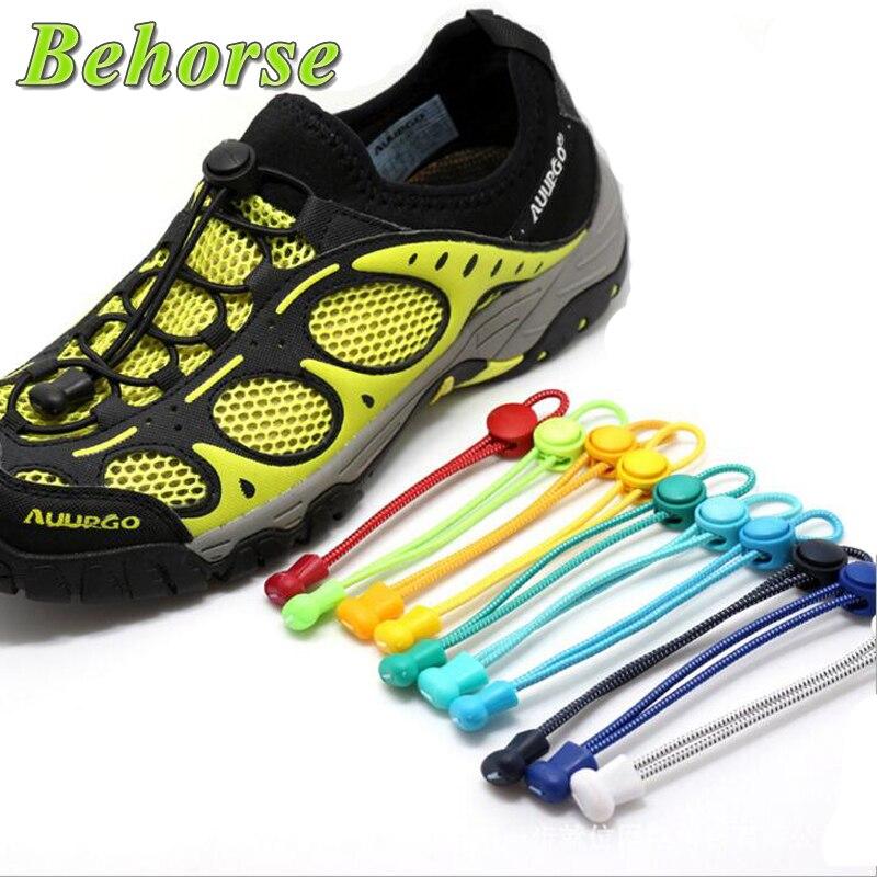 New Locking Shoe Laces Elastic Shoelaces Running/Jogging/Triathlon/Sports Tie Fitness Shoelace 8 Color