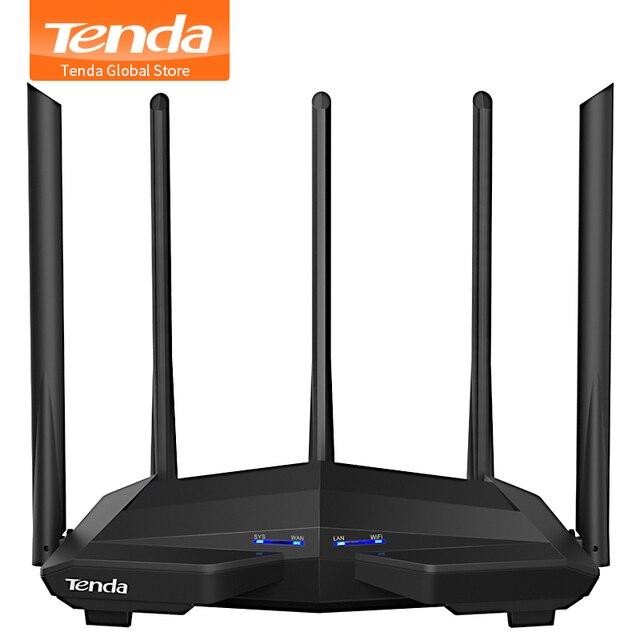חדש Tenda AC11 Gigabit Dual-Band AC1200 אלחוטי נתב Wifi מהדר עם 5 * 6dBi גבוהה רווח אנטנות רחב יותר כיסוי, התקנה קלה