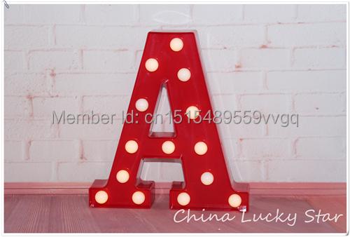 Letras Letreiro de LED Sinal de LUZ PARA CIMA Do Vintage alfabeto Plástico neon luz do feriado Interior Queda De Potência