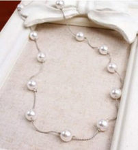 Korean fashion jewelry wild multi-pearl long necklace small fresh bohemian sweater chain female elegant necklace(China)