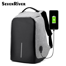 Anti-theft Usb Charging Travel Backpack For Men Multifunction Canvas Laptop Backpacks Waterproof Mochila