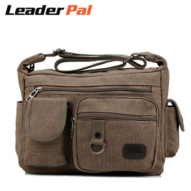 Men Women Travel Cross-body Messenger Bags Small Canvas Shoulder Bag  Wear-resisting Work Bag 9f33686ed852e