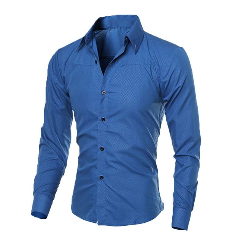 Fashion Man Shirt Fitness Brand New Mens Business Shirts