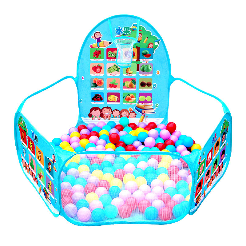 New Foldable Portable Pattern Early Education Ocean Ball Pool Safe Indoor Baby Kids Play House Tent Toys Gifts For Children