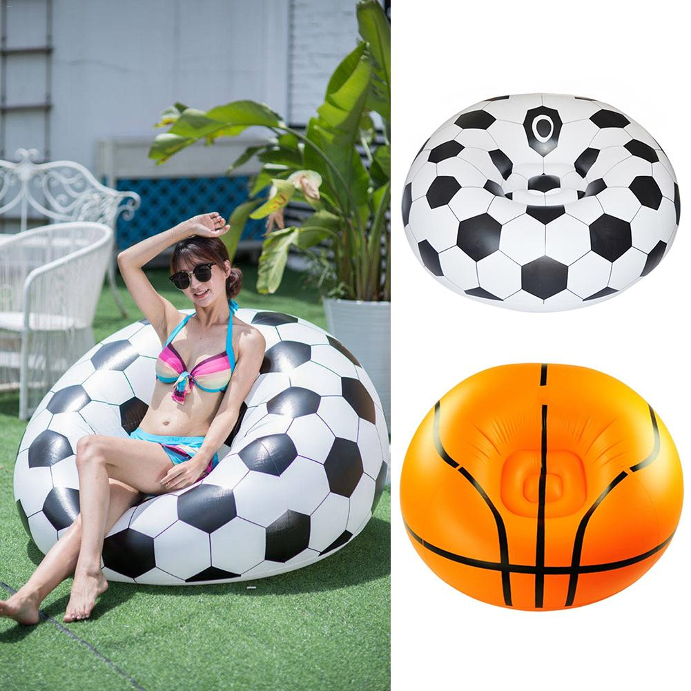 Inflatable Basketball Bean Bag Chair Soccer Ball Air Sofa Indoor Living Room PVC Adult Kids Football Outdoor Inflatable Sofa