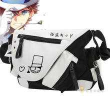 New Cartoon Anime Conan Shoulders Messenger Bag Leisure Canvas Cosplay Schoolbag