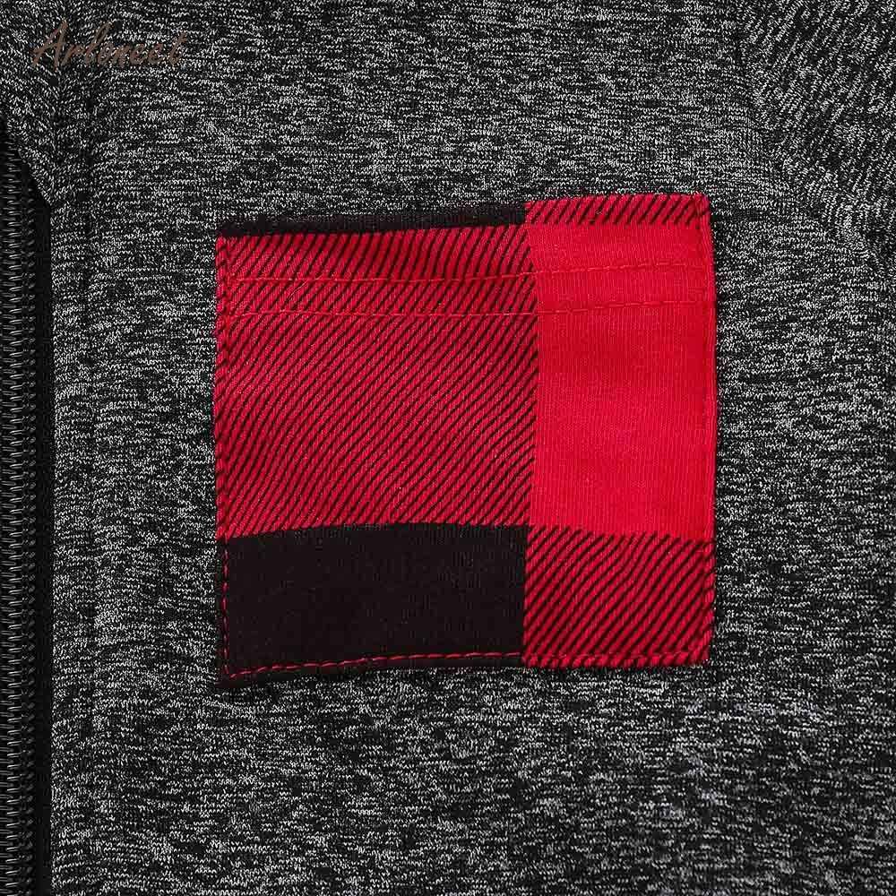 ARLONEE תינוק בני בנות בגדי חורף 2018 ארוך שרוול בתוספת קטיפה רוכסן ברדס סוודר מעיל חג המולד מתנות חדש שנה להלביש