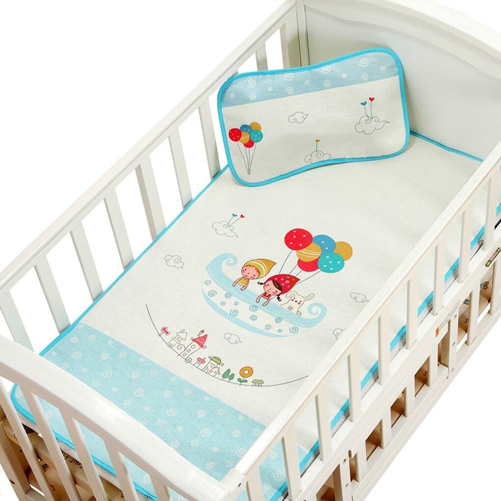 Mattresses Waterproof Cartoon Baby Mat Baby Pads Comfort Ice Silk Newborn Mattress