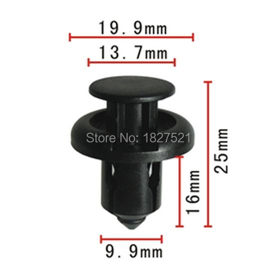 100x parachoques Clips Tipo de empuje de retención para Honda Civic acuerdo odisea Integra RSX 91503-SZ3-003 91503SZ3003