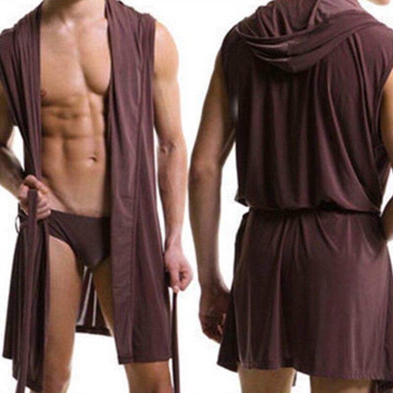 Sexy Comfortable Robes Bathrobe Plus Size Robe Mens Sexy Charming Soft Sleepwear Men Silk Gay Wear Hoodie Sleep Lounge Pajama