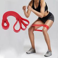Фотография CrossFit Resistance Bands Fitness Equipment Red 2080X13X2.5MM Ring Pulling Ring Resistance Bands Yoga Exercise Rubber Loops