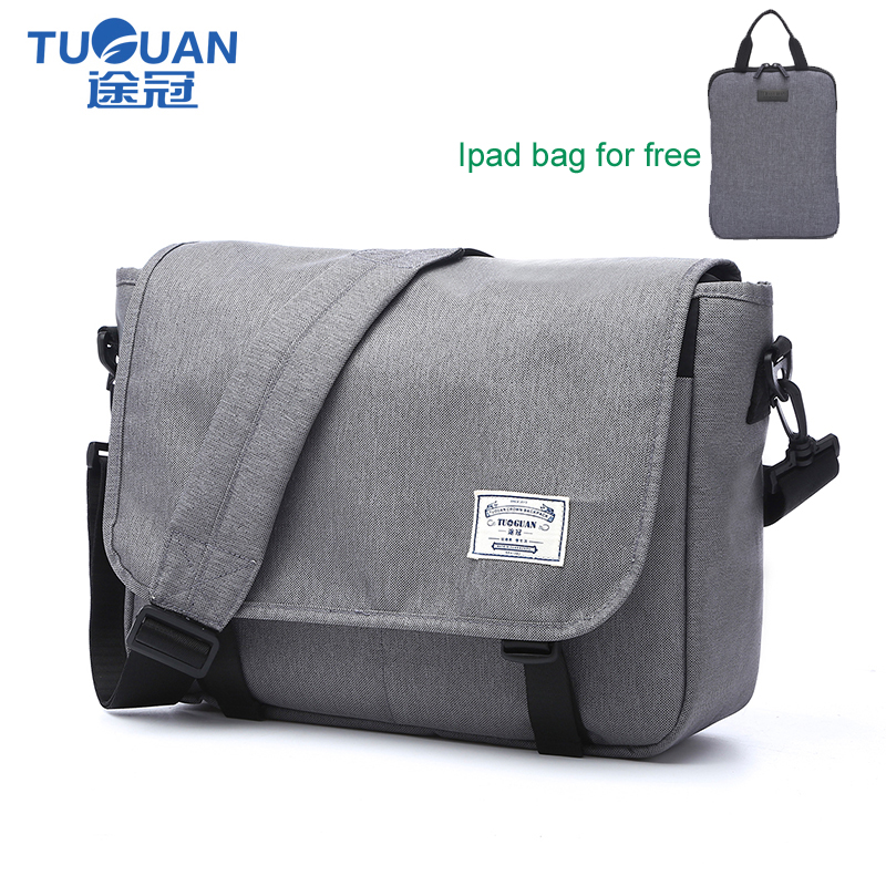 TUGUAN Brand Designer Unisex Men Waterproof Messenger Bags Korean Style Girl Cross Body Women Shoulder Bags for 14 Slim Laptop