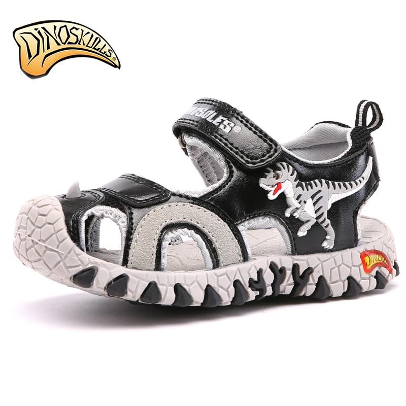 f72a1df7a17d8 Garçon sandales enfants chaussures d été fermés orteil Respirant Eau Sandal  dinosaure Chaussures Pour Garçons Sandale Plage Enfants Chaussures taille  27 34 ...