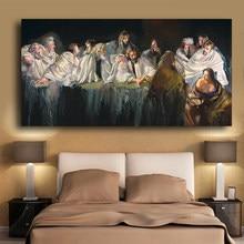 Son akşam yemeği Robert.Lenkiewicz portre soyut tuval boyama Cuadros posterler ve baskılar duvar sanatı resimleri için oturma odası