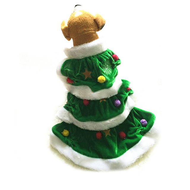 novely pet dog costume christmas tree shape puppy dog clothes dog cat windbreaker costume suit dressing
