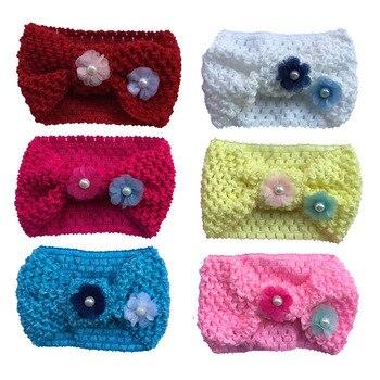 6pcs per lot girls kids knit crochet turban headband warm knot headbands hair accessories for children hairband ornaments
