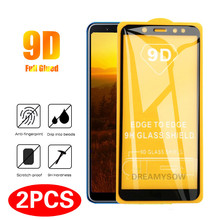 2PCS 9D Full Cover Glass For Samsung Galaxy A6 A8 A7 A9 J8 J6 J4 Screen Protector For Samsung A3 A5 A7 J3 J5 J7 Films