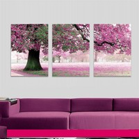 Frameless Large Size Beauty Tree Drawing Canvas Paintings DIY Oil Painting By Numbers Coloring By Numbers