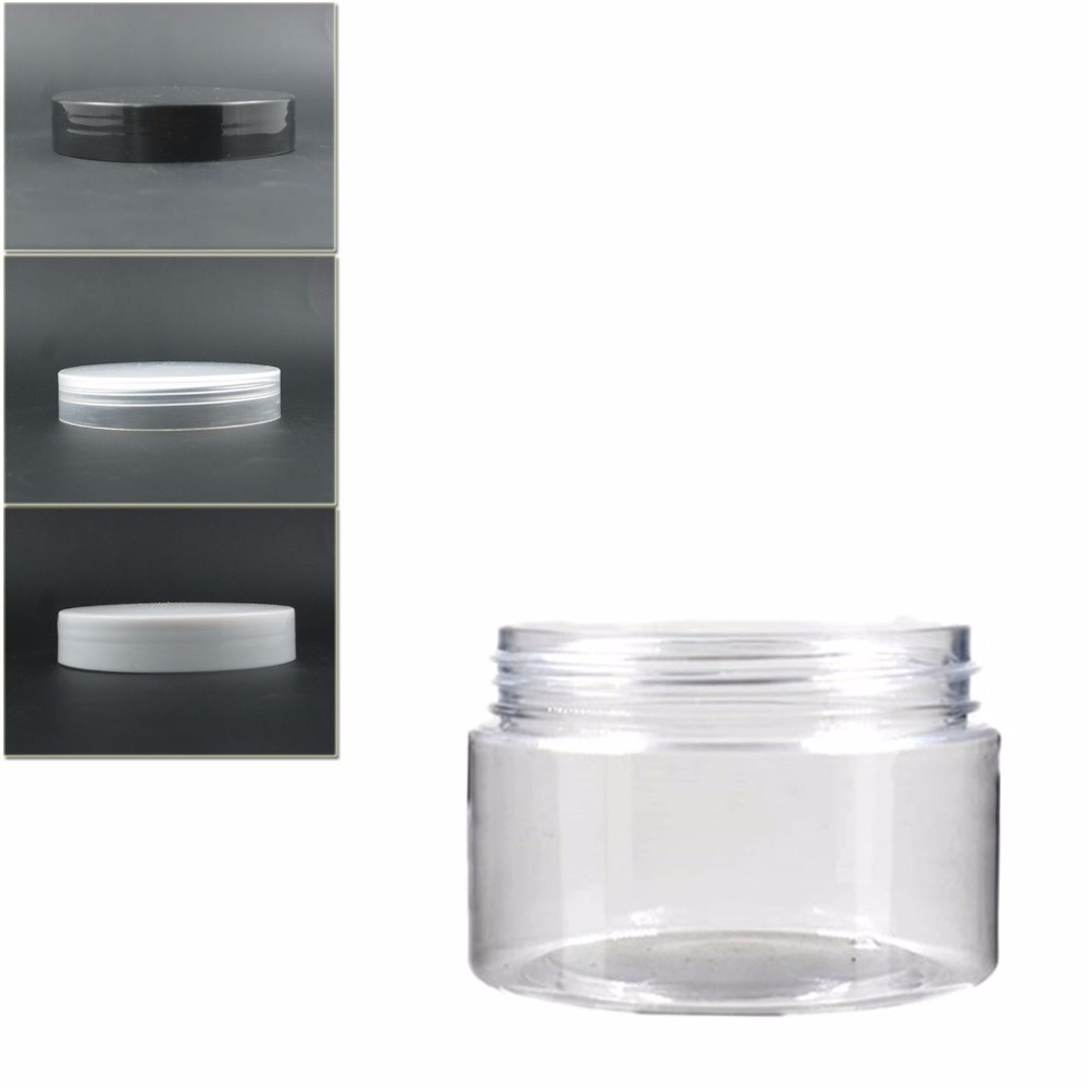 15pcs/lot 120ml Clear Round Pet  Jar Bottle Container With Transparent/white Plastic  Lids For Cosmetic,food, Drug,Packaging,