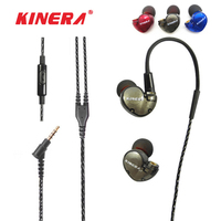 Kinera BD005 In Ear Earphone Monitor Dynamic Balanced Armature DD BA Hybrid Headset HIFI DIY Microphone