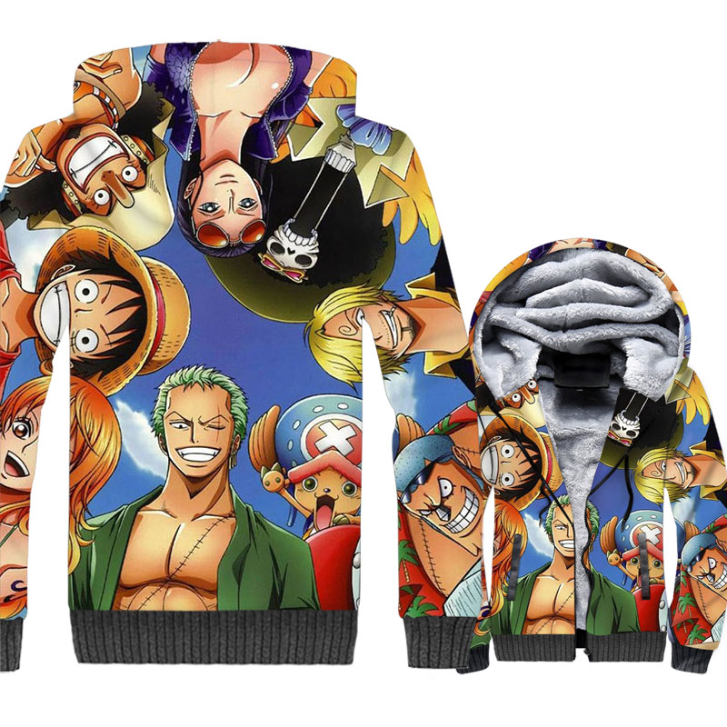 One Piece 3D Print Hoodie Men Luffy Zoro Nami Usopp Sanji