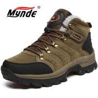 Winter Men Women Boots Warm Plush Waterproof Sneakers Brand Outdoor Unisex Sport Shoes Comfortable Running Shoes Big Size 36 47