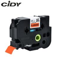 Cidy compatible tze-B51 Tz-B51 negro en naranja fluorescente cinta para etiquetas laminada utilizada para impresora brother tz B51 TZE B51