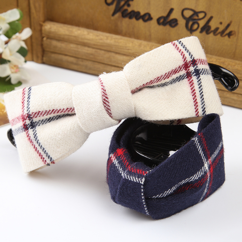 1Pc Fashion Hair Grips Cloth Bow Hair Fabric Plaid Caught Plastic Hair Accessories For Women Headwear Girls Hair Crab Clamp