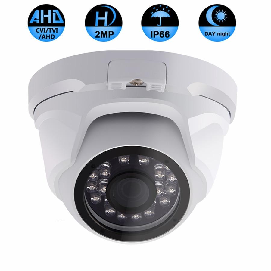 HD AHD TVI CVI 2MP CCTV Camera Vandal Proof Video Indoor Waterproof 24 Array LED IR Night Vision Surveillance Security Camera zea afs011 600tvl hd cctv surveillance camera w 36 ir led white pal