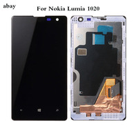 4.5 Inch For Nokia Lumia 1020 RM 875 LCD Display with Touch Screen Digitizer Assembly with frame Replacement Parts