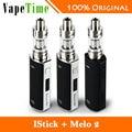 100% original 60 w eleaf istick kit eleaf melo 2 tanque de 4.5 ml atomizador vs eleaf istick tc60w caja mod electrónica cigarrillo