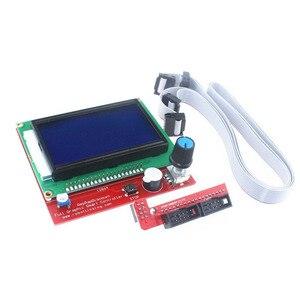 Image 2 - LCD 12864 تحكم طابعة ثلاثية الأبعاد ramps 1.4 تحكم LCD12864 شاشة عرض اللوحة الأم الأزرق وحدة التحكم الذكي ramps