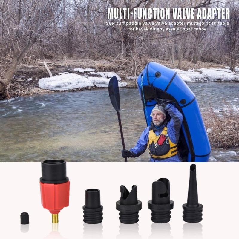 SUP Pump Adaptor Air Valve Adapter For Outdoor Canoe Kayak Surfing Tackle Tools
