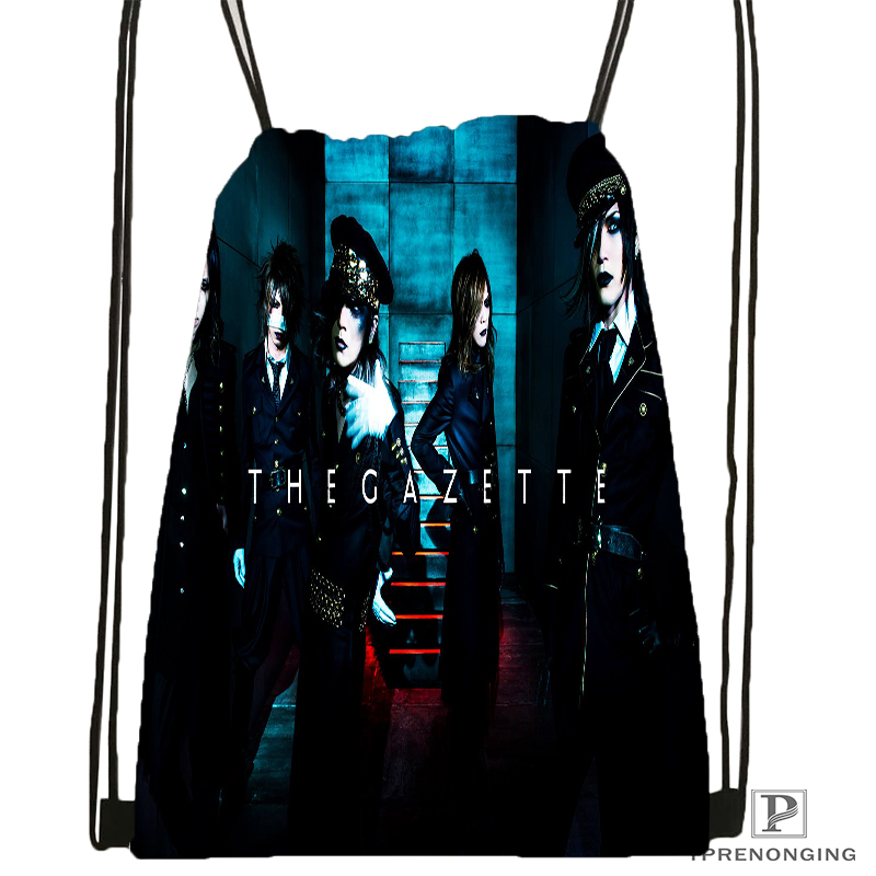 Custom Yruha The Gazette Drawstring Backpack Bag Cute Daypack Kids Satchel (Black Back) 31x40cm#180531-04-11