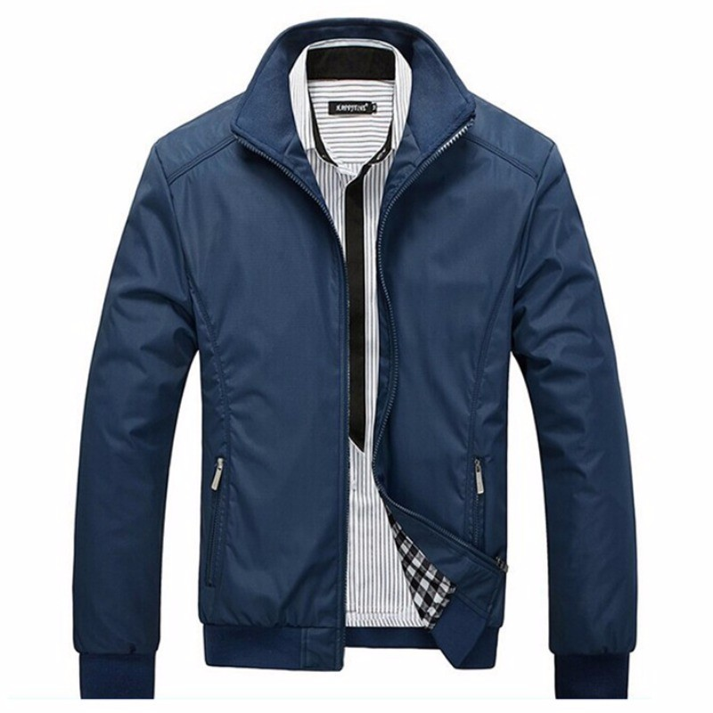 HTB1bZTwrgoQMeJjy1Xaq6ASsFXaV - 2019 Men Autumn Winter Casual Slim Long Seeve Collar Jackets Tops Coat Warm Outerwear Size