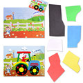 Cute Handmade DIY Cartoon Animal 3D EVA Self-adhesive Foam Sticker Puzzle Early Learning Education Toys for Children Kids Gift