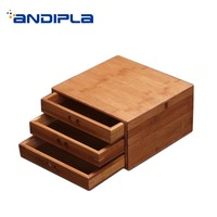 Natural Bamboo Pu'er Tea Storage Box Jar Wood Tea Tray Kung Fu Set Teaware Chinese Kung Fu Tea Set Accessories Tea Cake Boxes