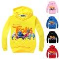 Spring Kids Good Luck Trolls Cartoon Hoodies Coats for Boys  Long-sleeve Casual Sweatshirts for Girls Cotton Print T-shirts