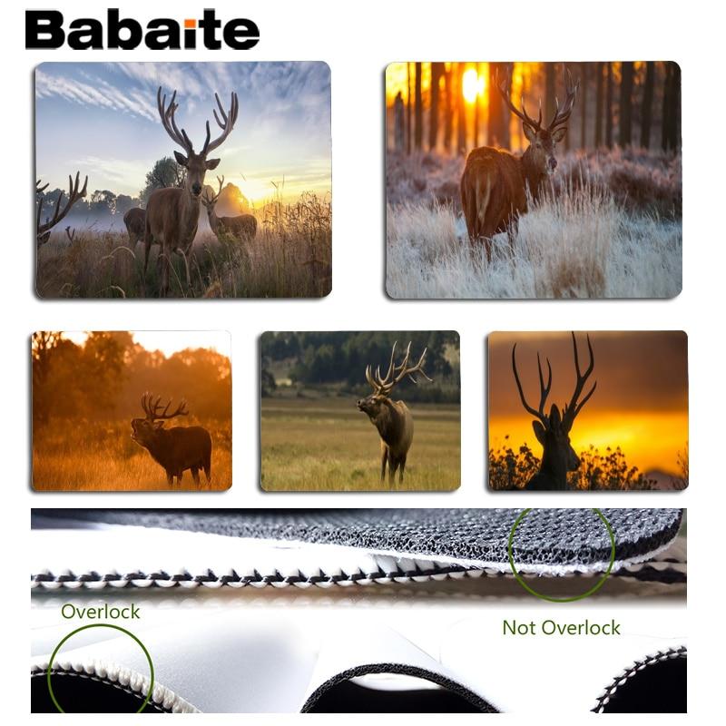 Babaite Нескользящие PC Лось геймер играть коврики коврик Размеры для 18x22 см 25x29 см резиновые для мышей