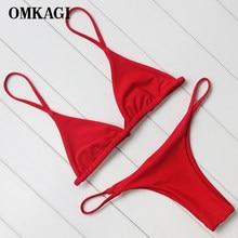 OMKAGI-microbikini con Push-Up para mujer, traje de baño Sexy, ropa de playa, Bikini brasileño 2018