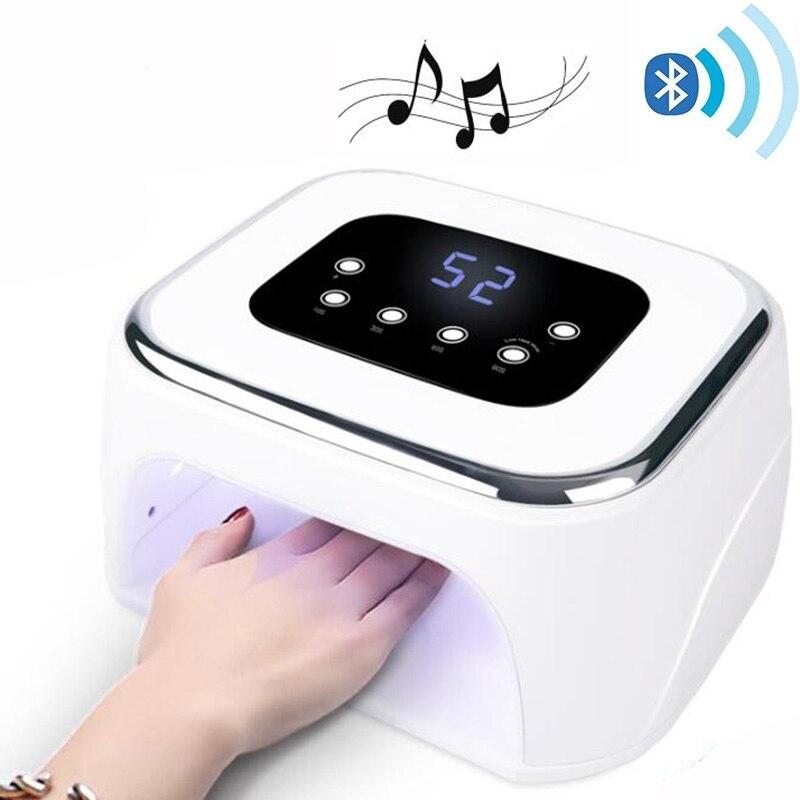 2019 NEW Arrival Bluetooth Nail UV Lamp 42LED Beads Gel Nail Polish Dryer Music Player Nail Curing Light Nail LED Lamp